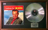 JIM REEVES - Platinum disc & cover - GENTLEMAN JIM